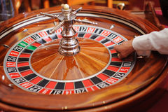赌博娱乐场轮盘赌 免版税图库摄影