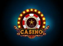 赌博娱乐场霓虹灯标志 免版税库存图片