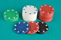 赌博娱乐场项目 免版税库存图片