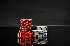 赌博娱乐场题材,大气光 图库摄影