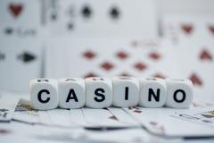 赌博娱乐场,模子信件 免版税库存照片