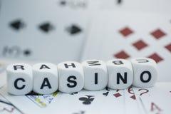 赌博娱乐场,模子信件 免版税图库摄影