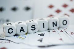 赌博娱乐场,模子信件 图库摄影