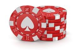 赌博娱乐场(包括的裁减路线)芯片  图库摄影