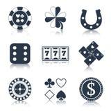 赌博娱乐场黑色设计元素 向量例证