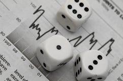 赌博市场股票 库存照片