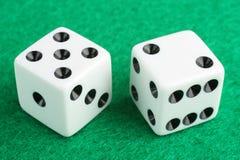 赌博幸运七的概念彀子 库存照片