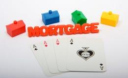 赌博房产市场 库存照片