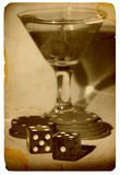 赌博旧时 免版税库存照片