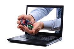 赌博的互联网 免版税库存照片