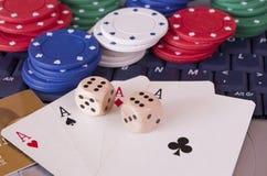 赌博的互联网 库存照片
