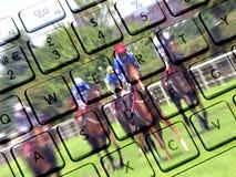 赌博的互联网 免版税库存图片