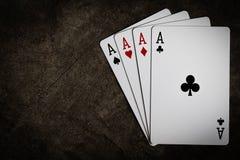 赌博的卡片 库存图片