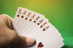 赌博的卡片 库存照片