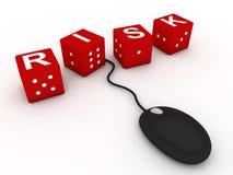 赌博的在线风险 免版税图库摄影