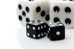 赌博的多维数据集 库存照片