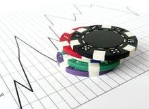 赌博的市场股票 免版税库存图片