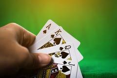 赌博的打牌 免版税库存图片