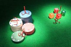 赌博的瘾 免版税库存图片