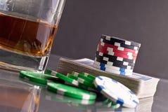 赌博的看板卡 免版税图库摄影