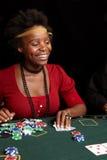 赌博的看板卡 库存图片