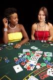 赌博的看板卡 库存照片