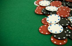 赌博的筹码 免版税库存图片