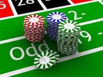 赌博的筹码 库存图片