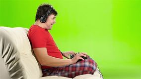赌博的网络游戏由有经验的一个游戏玩家使用了 影视素材