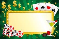 赌博的背景 免版税图库摄影