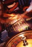 赌博的行动 库存照片
