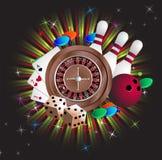 赌博的设备 库存图片