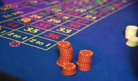 赌博的轮盘赌的赌轮 库存图片