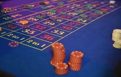 赌博的轮盘赌的赌轮 库存照片