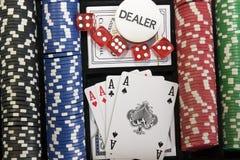 赌博的集 库存照片