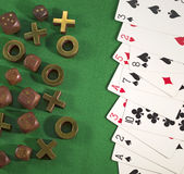 赌博的题材4 库存照片