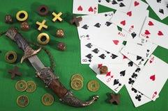 赌博的题材5 免版税库存照片