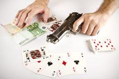赌博的风险 库存图片