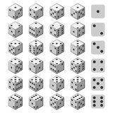赌博的3D模子集合 皇族释放例证