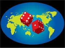 赌博行星 免版税库存图片