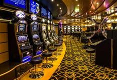 赌博赌博娱乐场内部,巡航划线员Splendida 免版税图库摄影
