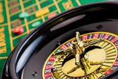 赌博轮盘赌的赌博娱乐场 库存图片