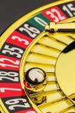 赌博轮盘赌的赌博娱乐场 免版税库存照片