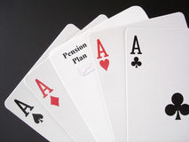 赌博退休金 库存图片