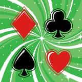 赌博集合符号的看板卡 库存图片