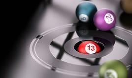 赌博,机会和第13 向量例证