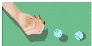 赌博-玻璃模子 免版税库存图片