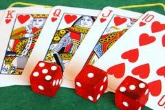 赌博 库存图片