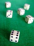 赌博02个的彀子 免版税库存照片