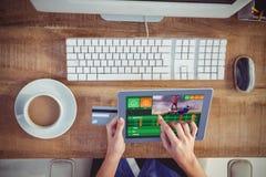 赌博app屏幕的综合图象 免版税库存照片